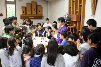 子どもミサ&デン作り(巣作り)