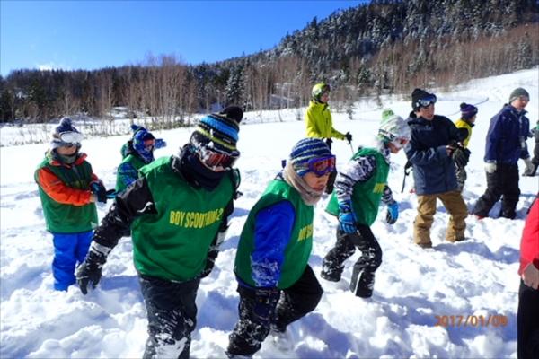 ボーイ&カブ隊スキーキャンプ
